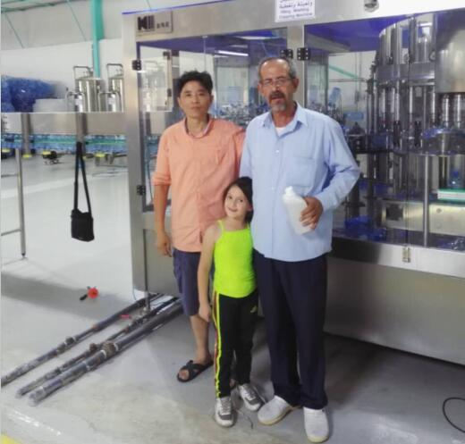 Jordan customer ordered 6000bph water filling machine from Kingmachine